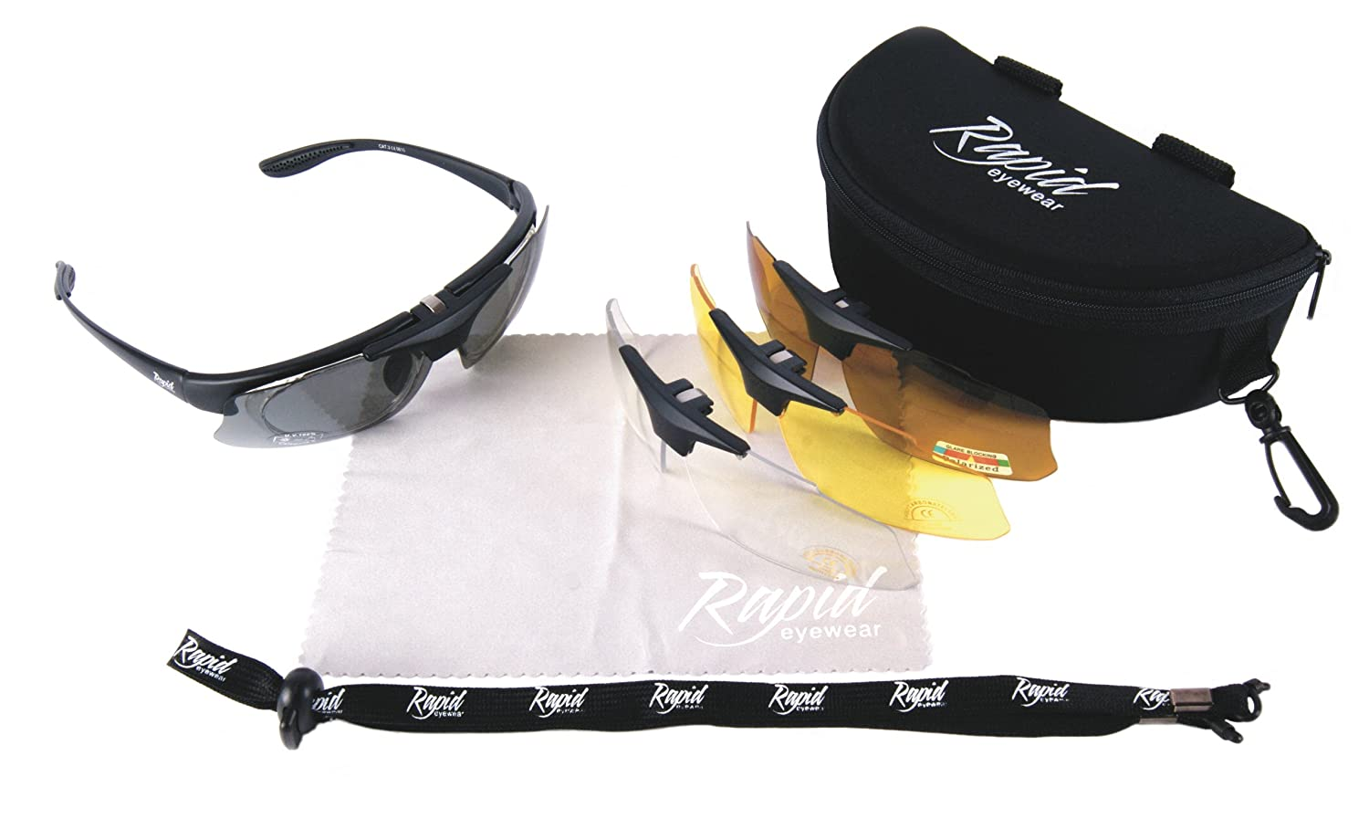 d81443a44dd Amazon.com  Rapid Eyewear Pro Performance Plus RX SPORTS SUNGLASSES FRAME  with Interchangeable UV Polarized Lenses. For Men and Women.