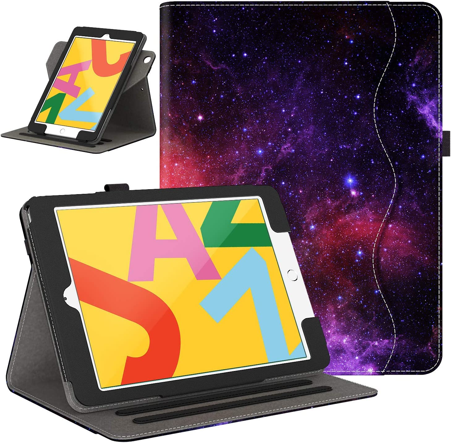 Retear Case for New iPad 8th Gen (2020) / 7th Generation (2019) 10.2 Inch - 360 Degree Rotating Smart PU Leather Stand Apple Cover with Auto Wake/Sleep