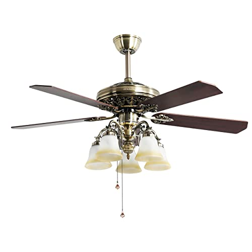 High Quality Ceiling Fan With Lights For Living Room 52: Vintage Ceiling Fan With Light: Amazon.com