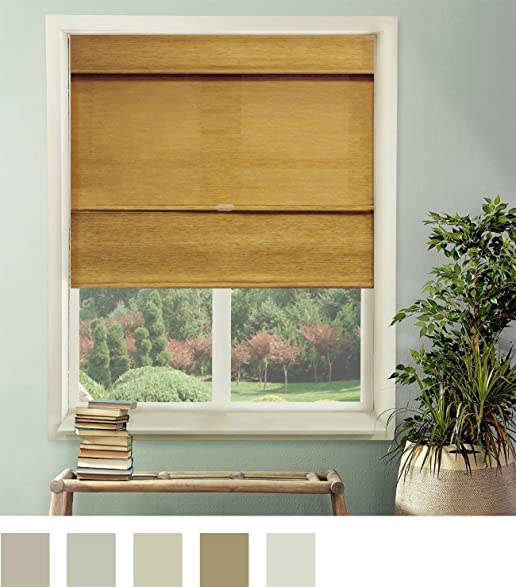 Chicology Cordless Magnetic Roman Shades Window Blind Fabric Curtain Drape Natural Woven Privacy