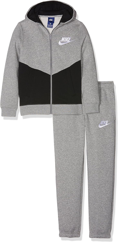 Nike B NSW TRK Suit BF Core Chándal, Niños, Gris (dk Grey Heather ...