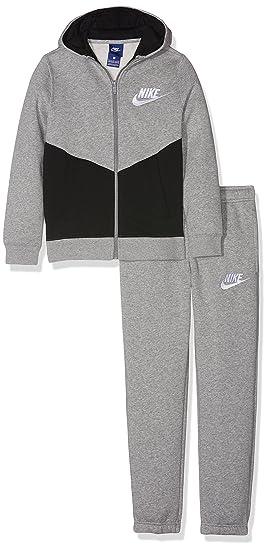 new style 0c82c d38d5 Nike B NSW TRK Suit BF Core Chándal, Niños, Gris (dk Grey Heather Negro  Blanco), M  Amazon.es  Deportes y aire libre