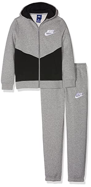 Nike B NSW TRK Suit BF Core, Overall Kinder M Grigio Scuro