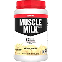 Muscle Milk Genuine Protein Powder,  Banana Crème, 32g Protein, 2.47 Pound, 16 Servings
