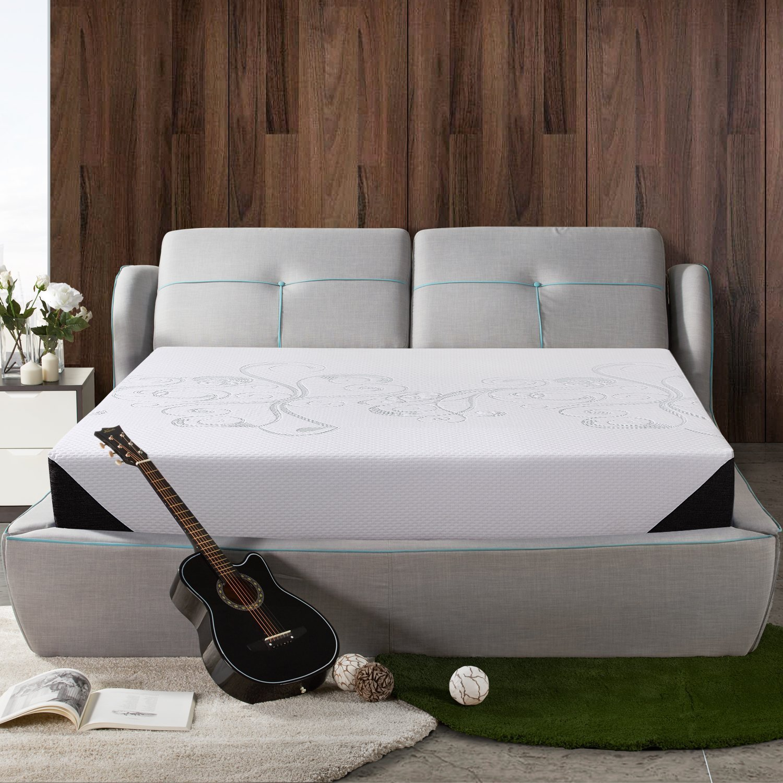 Polar Sleep 8 Inch Memory Foam Mattress, Air Gel Memory Foam, Sleep Comfortable, 10 Year Warranty, King Size, White …