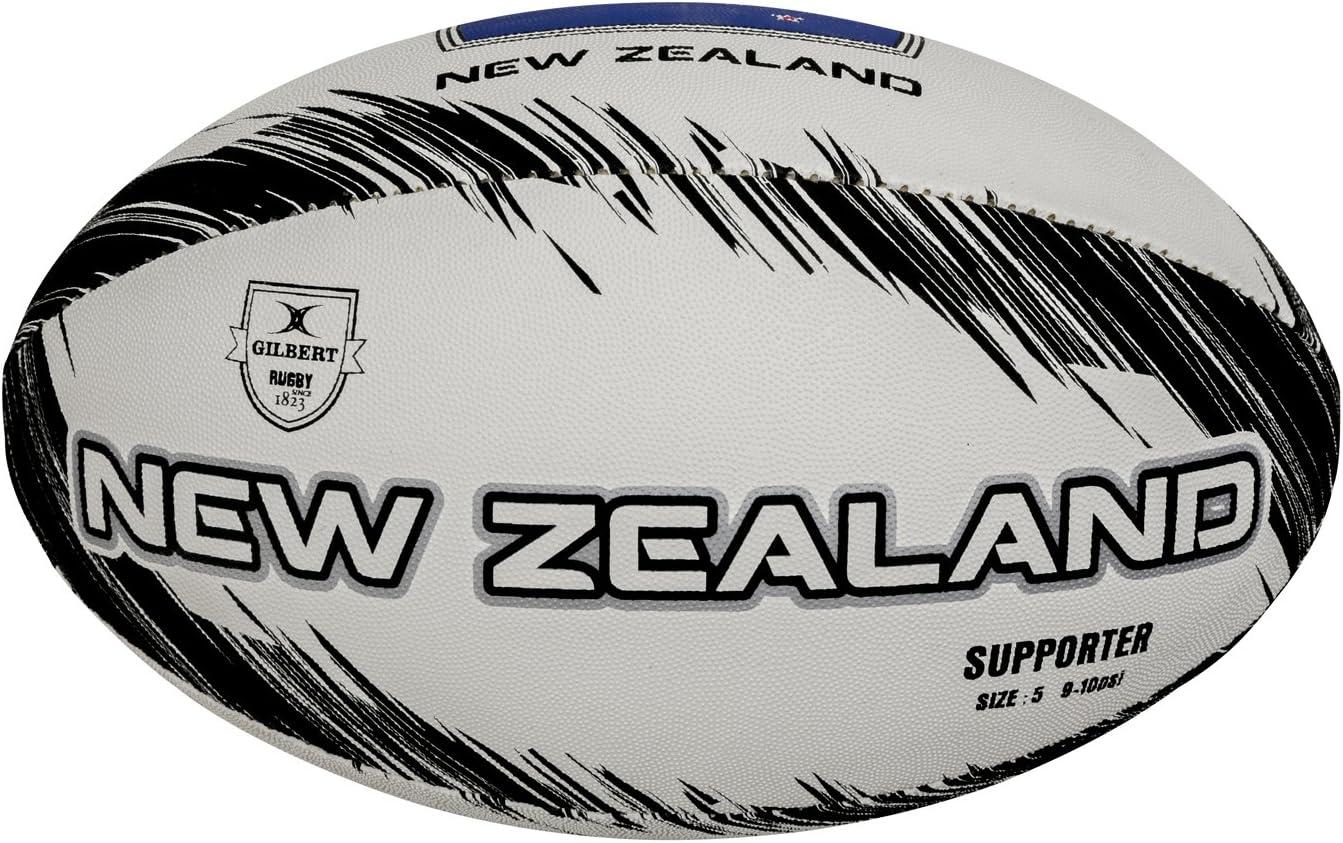 Gilbert Supporter Nueva Zelanda Balón de Rugby, Unisex Adulto ...