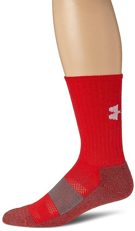 Under Armour Performance Crew Socks, Red, Medium