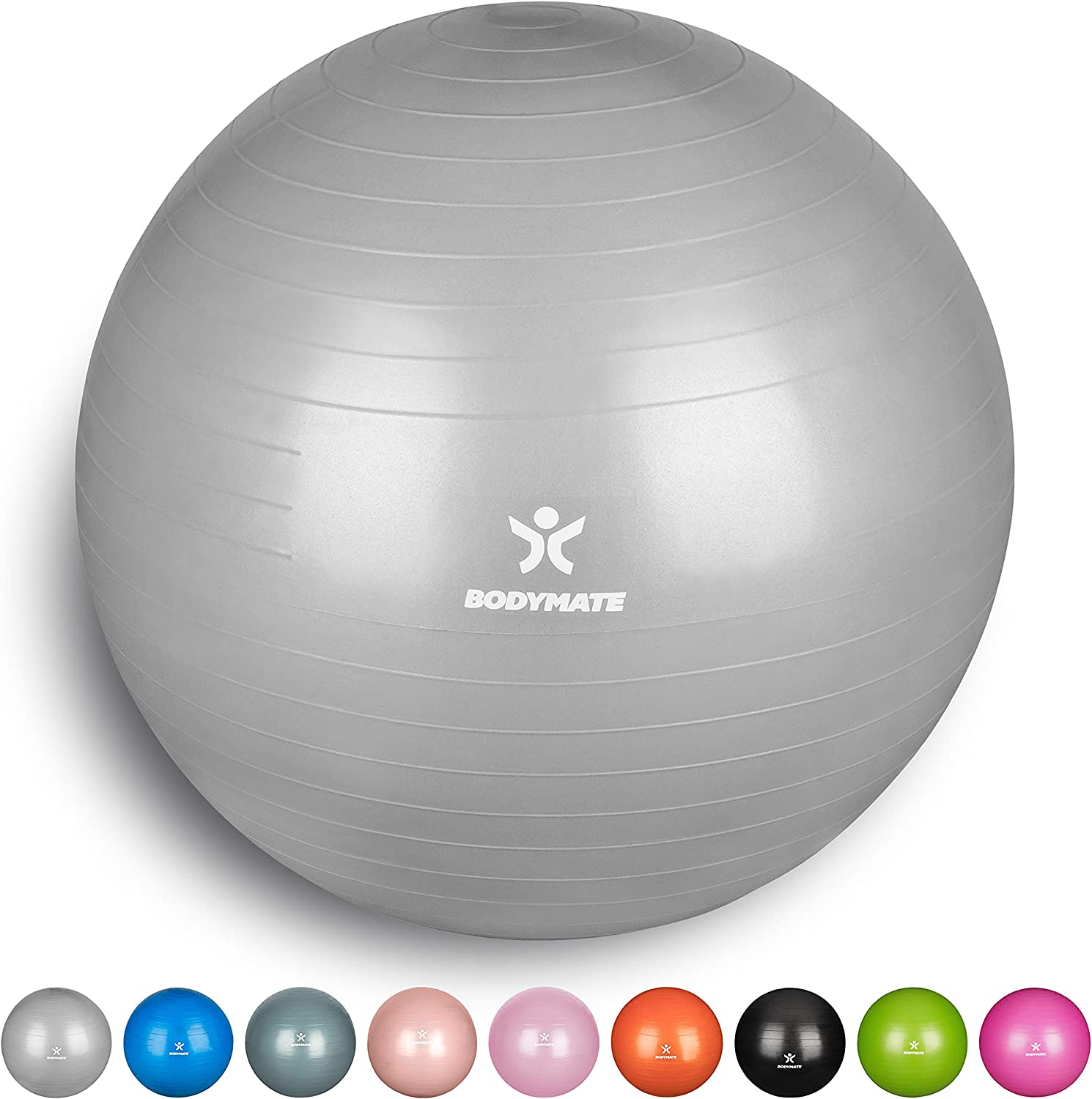 BODYMATE Exercise Ball for Fitnes - ebook avec exercices inclus