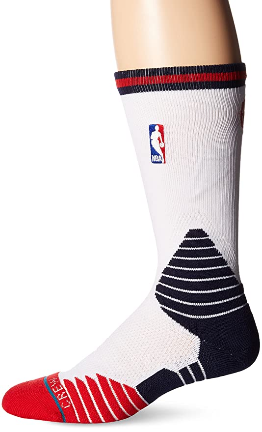 Stance New Orleans Peli Cans on de Court Logo NBA Calcetines Color Blanco