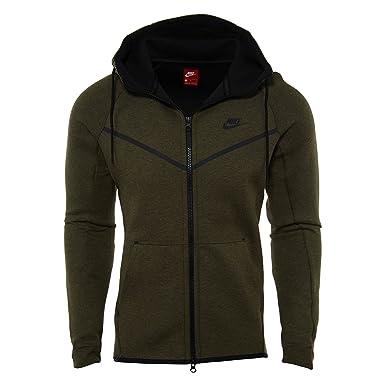 Sudadera capucha Nike – Sportswear Tech Fleece Windrunner verde/negro talla: S (Small