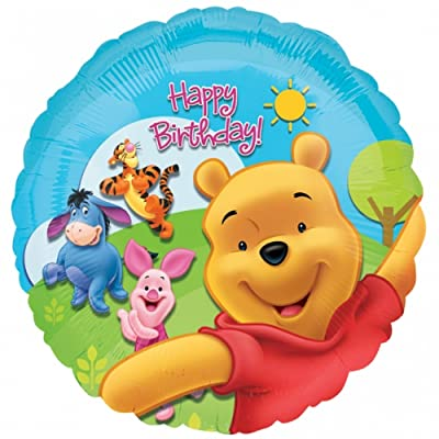 Anagram 18 Inch Circle Foil Balloon - Pooh & Friends Sunny Birthday: Toys & Games