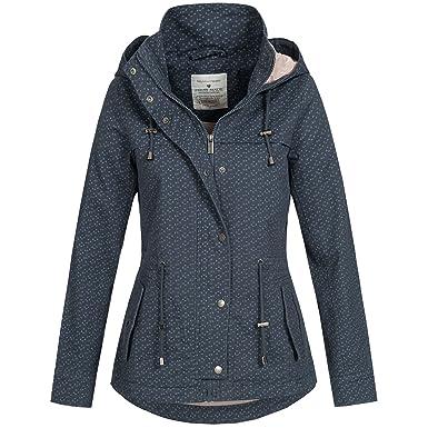 c0760873c3bc Fresh Made Damen Jacke Übergang Frühling Herbst Baumwoll Parka Mantel 43304  XS-XL  Amazon.de  Bekleidung