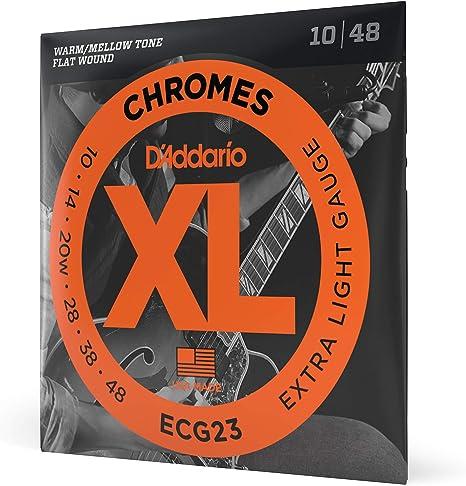 DAddario ECG23 Juego de Cuerdas para Guitarra Eléctrica, Plateado ...