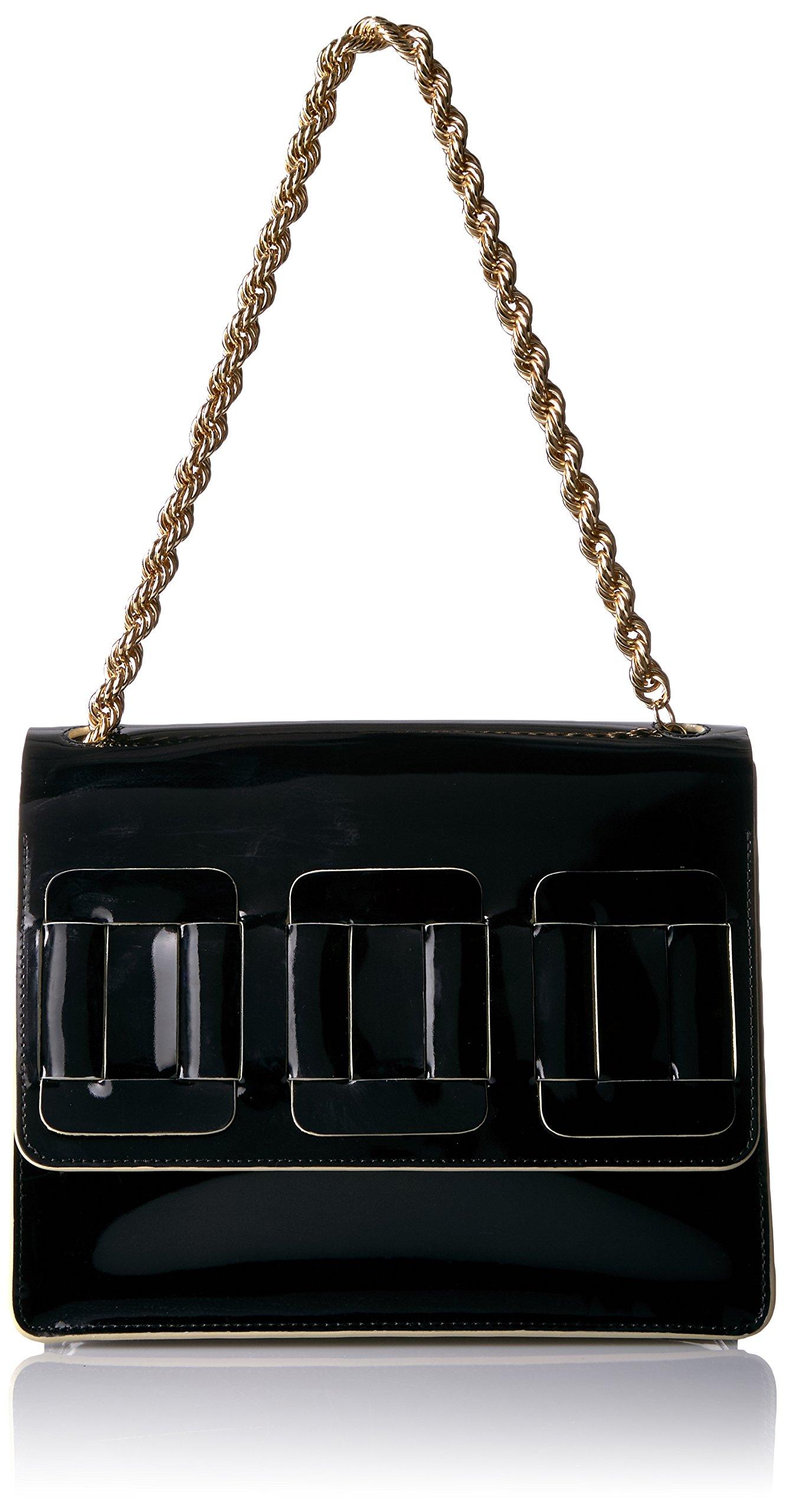 Orla Kiely Glass Leather Linked Square Bonnie, Black by Orla Kiely