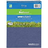 """Roaring Spring Environotes Notebook, Top Open, 8.5"""" x 11.5"""", 70 sheets, College Ruled, 20# BioBase Paper"""