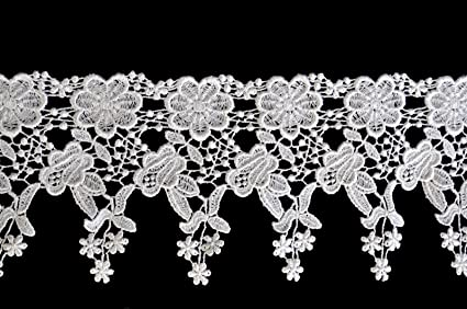 "4.5/"" White Venise Vintage Victorian Floral Flower Lace Trim By Yardage"