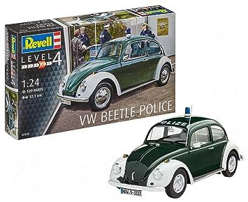 Revell- Maqueta VW Conocido Policía, Kit Modelo, Escala 1:24 (07035), Color grün/weiß (Polizei), 17,1 cm de Largo (