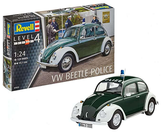 Amazon com: Revell of Germany VW Beetle Police Building Kit