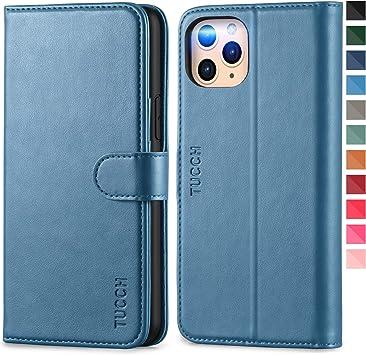 TUCCH Funda iPhone 11 Pro, Funda Libro Protectora con Despertar/Dormir Automático, Bloqueo RFID, Carcasa TPU, Cierre Magnético, Funda de Cuero PU para iPhone 11 Pro (5.8 Pulgadas), Azul Claro: Amazon.es: Electrónica