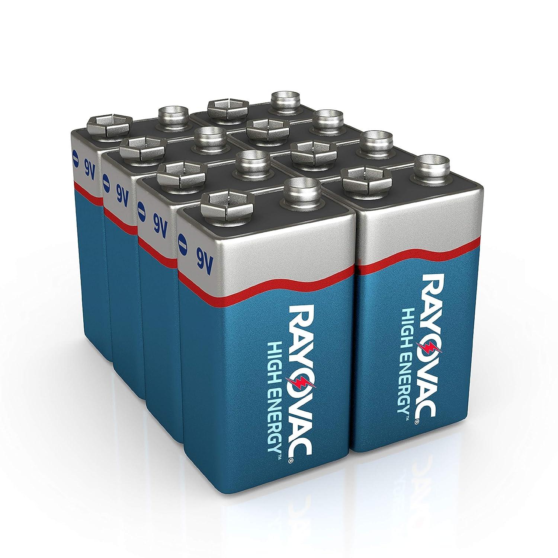 Amazon.com: Rayovac Pilas alcalinas de 9V, A1604-8PPK, 8 ...