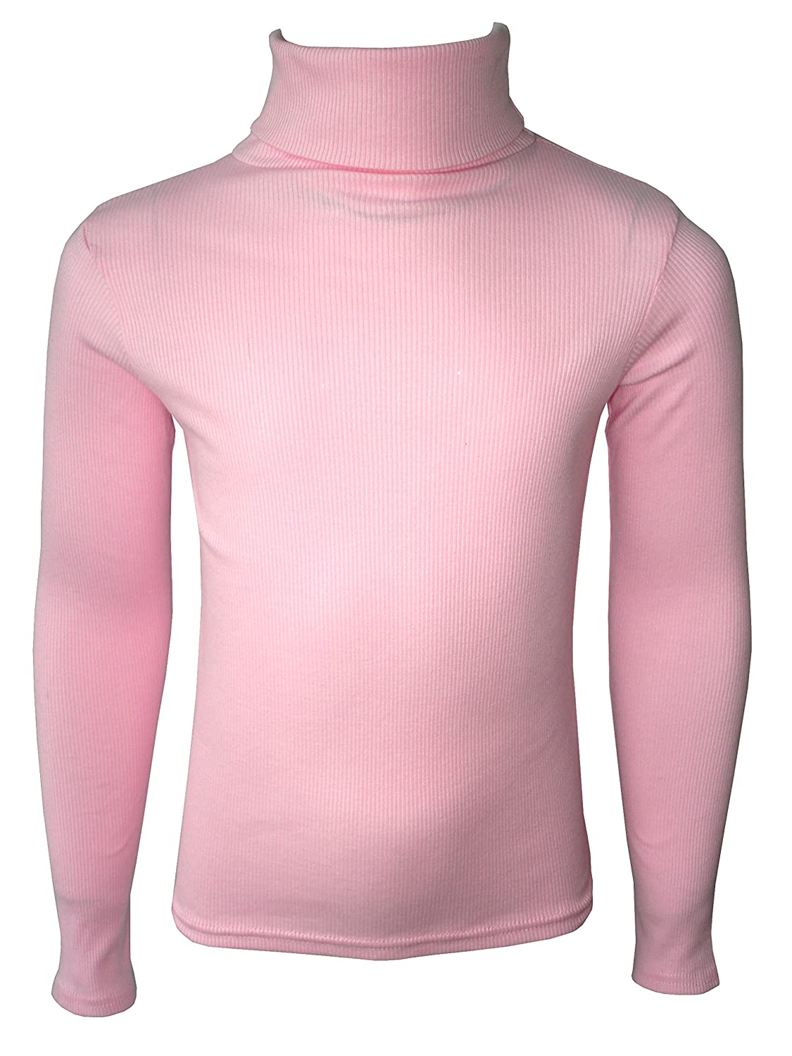 KIDS BOYS GIRLS POLO NECK RIBBED JUMPER TOP TURTLE ROLL NECK 0-13 YEARS NEW