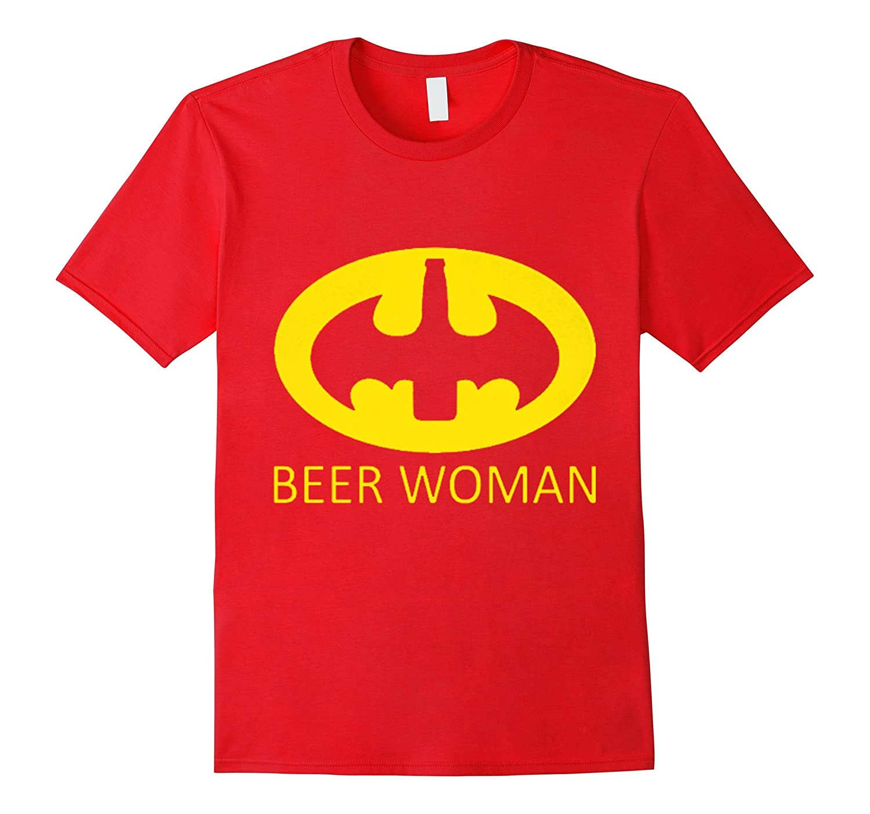 Batt-woman Love Beer T-shirt . Halloween Costume-CL