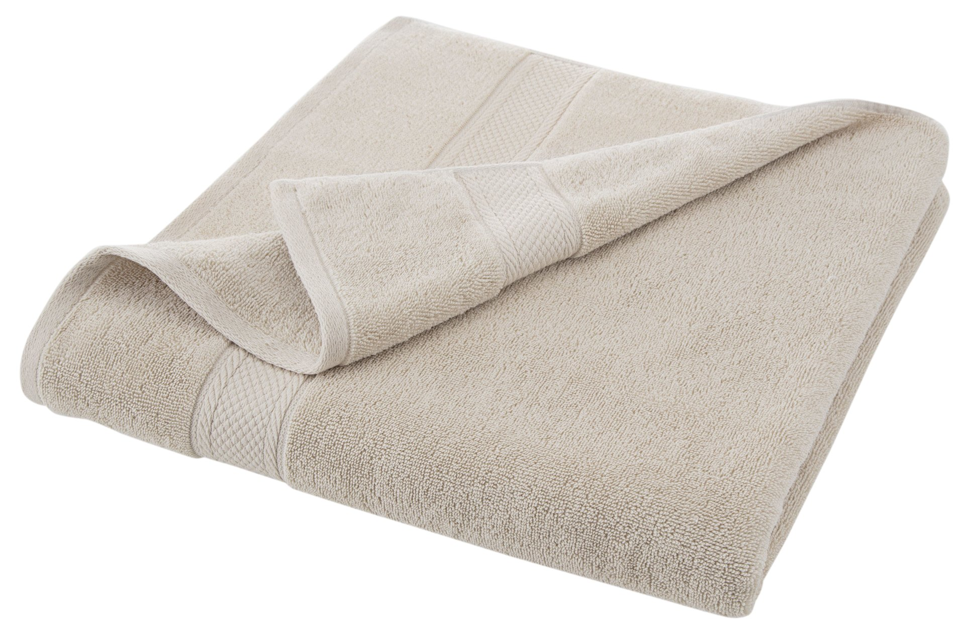 GRAND PATRICIAN SUITES BODY SHEET - Densely Woven 3 ply Loop Yarn, 100% Cotton, Thick, Plush, Ultra Absorbent - Luxury, Hotel, Bathroom - Machine Washable - Linen Beige