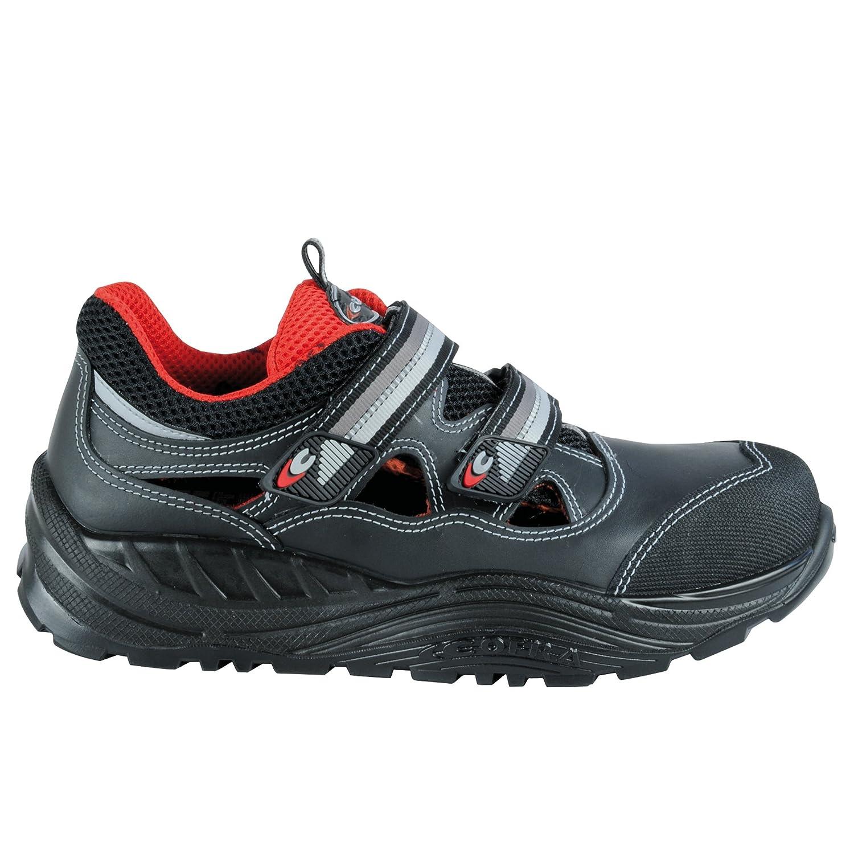 Cofra SicherheitsSandale Bakasa Maxi Comfort 55070-000, Sicherheitsschuhe S1 schwarz, P SRC, Größe 44, schwarz, S1 55070-000 - 5c5cd3