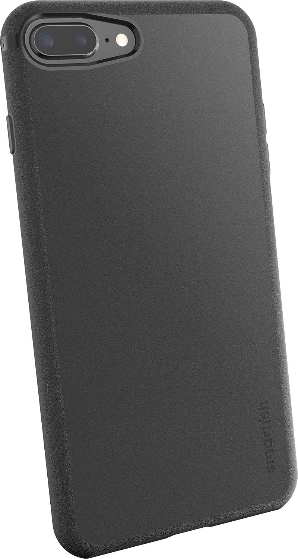 Smartish iPhone 8 Plus / 7 Plus Slim Case - Kung Fu Grip [Lightweight + Protective] Thin Cover for Apple iPhone 7 Plus / 8 Plus (Silk) - Black Tie Affair