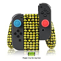 Joy-Con Charging Grip for Nintendo Switch, Built-in 1200mAh Rechargeable Battery, USB Type C Charging Cable and 2 Pro Thumb Grip Caps Included (Emoji)