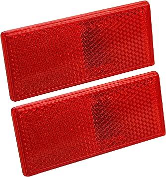 Reflector Rectangular red