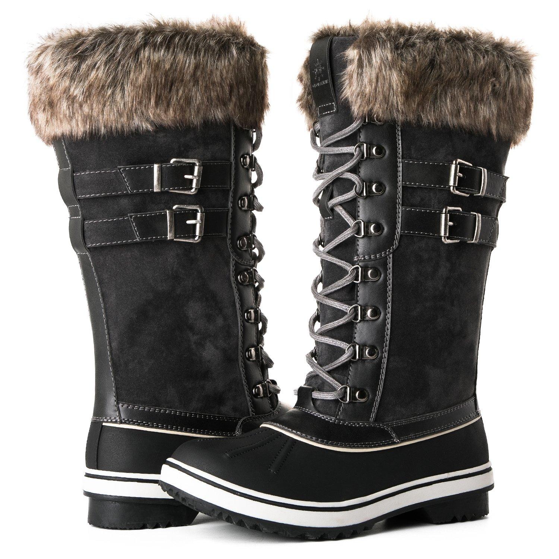 Global Win GLOBALWIN Women's 1730 Winter Snow Boots B075MMJ5GM 8 B(M) US|1735grey