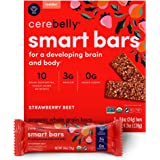 Cerebelly Toddler Snack Bars – Strawberry Beet (Pack of 5), Healthy & Organic Whole Grain Bars with Veggies & Fruit, 15 Brain