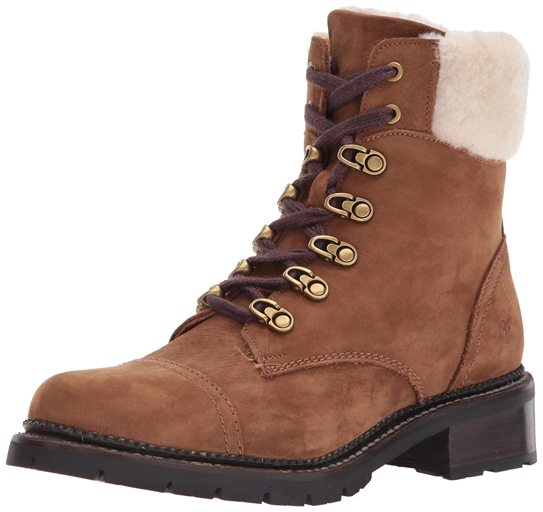 FRYE Women's Samantha Hiker Combat Boot B06WP27HTK 5.5 B(M) US|Cognac