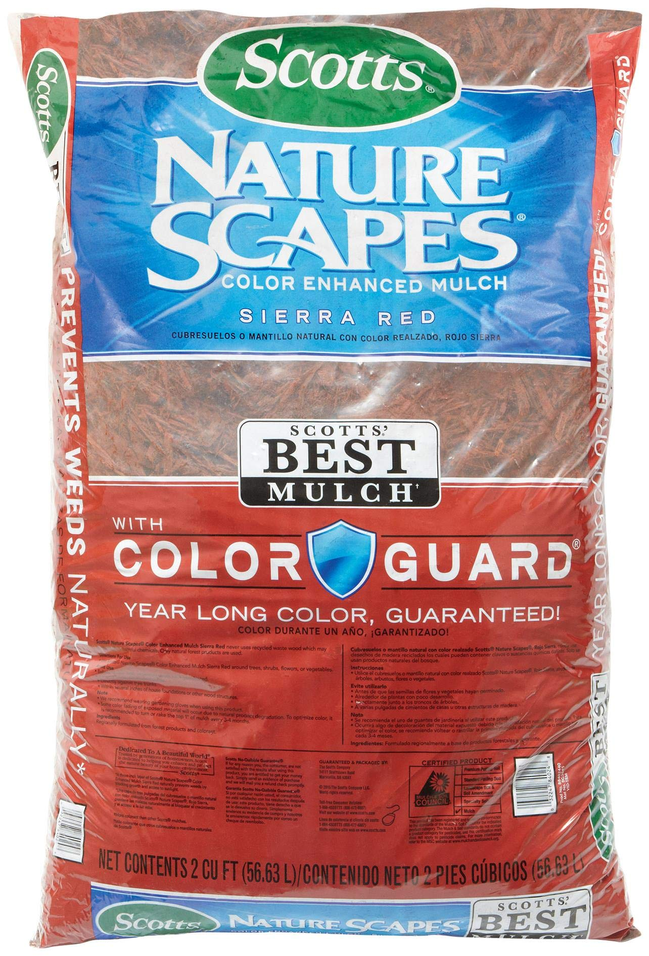 Scotts 88402440 2 Cu Ft Sierra Red Nature Scapes Color Enhanced Mulch by Scotts