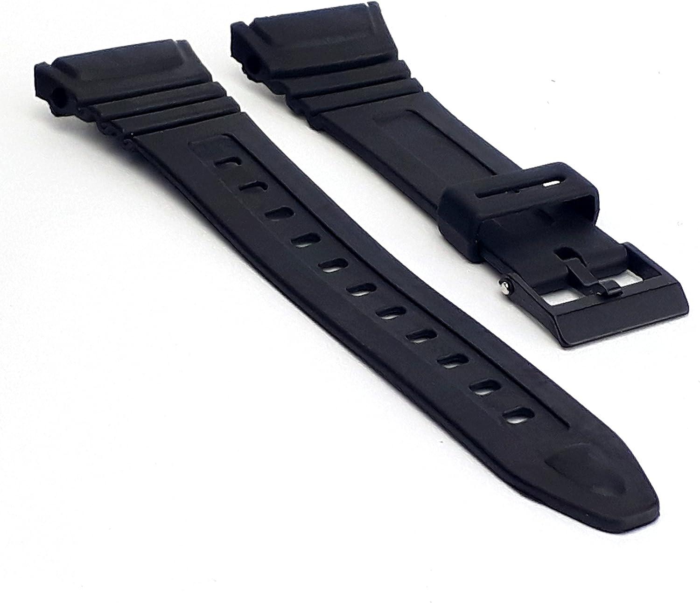 BRACELET RÉGLABLE MONTRE Casio F 91W de 18 mm Noir en Résine