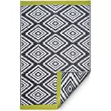 Fab Habitat Reversible Rugs   Indoor or Outdoor Use   Stain Resistant, Easy to Clean Weather Resistant Floor Mats   Valencia
