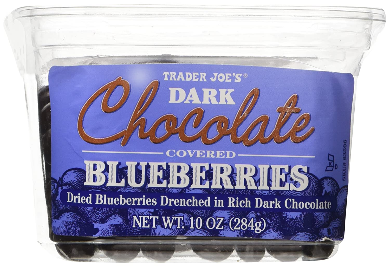 Trader Joe's Dark Chocolate Covered Blueberries - Net Wt. 10 oz