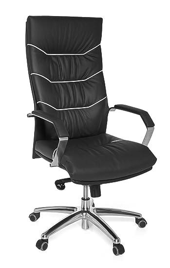 Leder Schreibtischstuhl amstyle bürostuhl ferrol echt leder schwarz schreibtischstuhl