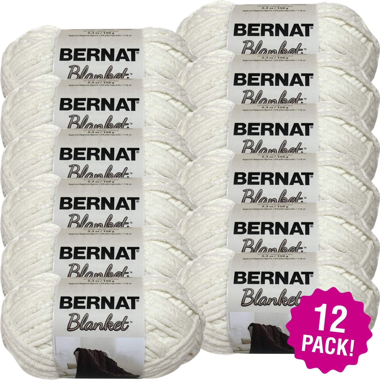 Bernat 99323 Blanket Yarn-12/Pk-Vintage, 12/Pk Vintage White Pack