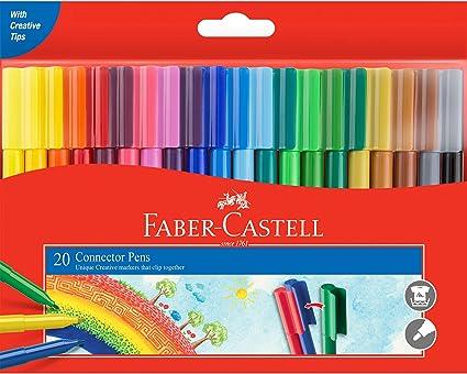 Faber-Castell 155520 - Juego de 20 rotuladores de colores en caja ...