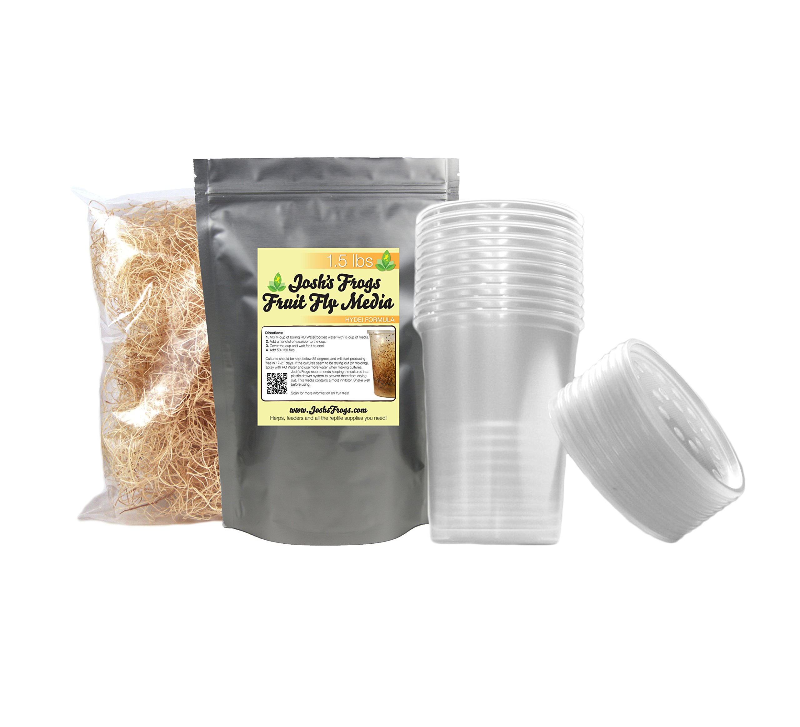 Hydei Fruit Fly Culture Kit (makes 10 cultures) by Josh's Frogs