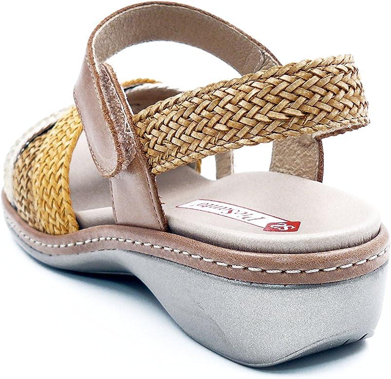 Zapato C/ómodo Mujer Sandalia Plantilla Extra/íble 180809 PieSanto