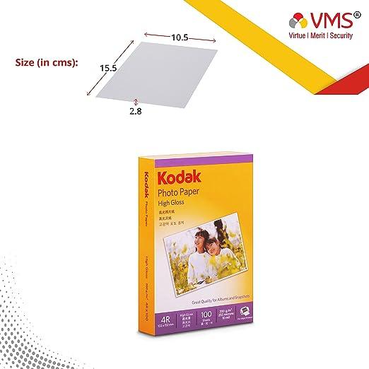 Kodak photo paper High Gloss 4R 200 GSM  Set Of 2  Photo Paper