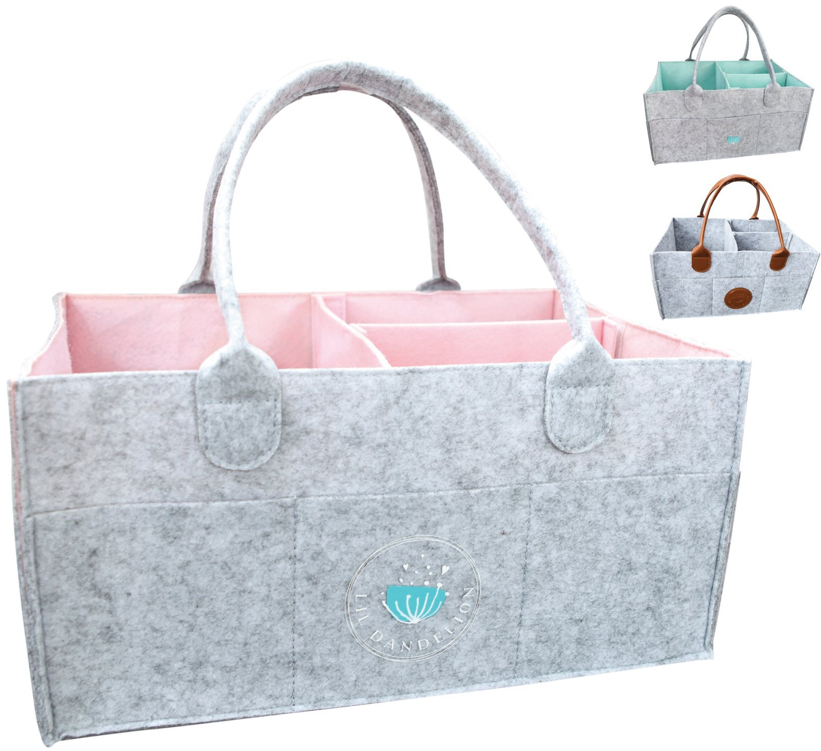 Baby Diaper Caddy Organizer - Baby Shower Gift Basket for Boy Girl ...