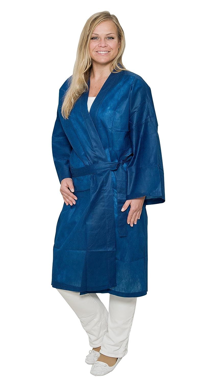50 x Desechables de kimono azul con cintas de fieltro de polipropileno azul oscuro tamaño XL (aprox. 150 x 115 cm): Amazon.es: Salud y cuidado personal