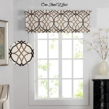 H.Versailtex Energy Saving Curtain Valances For Living Room,Matching With  Curtain Panels (
