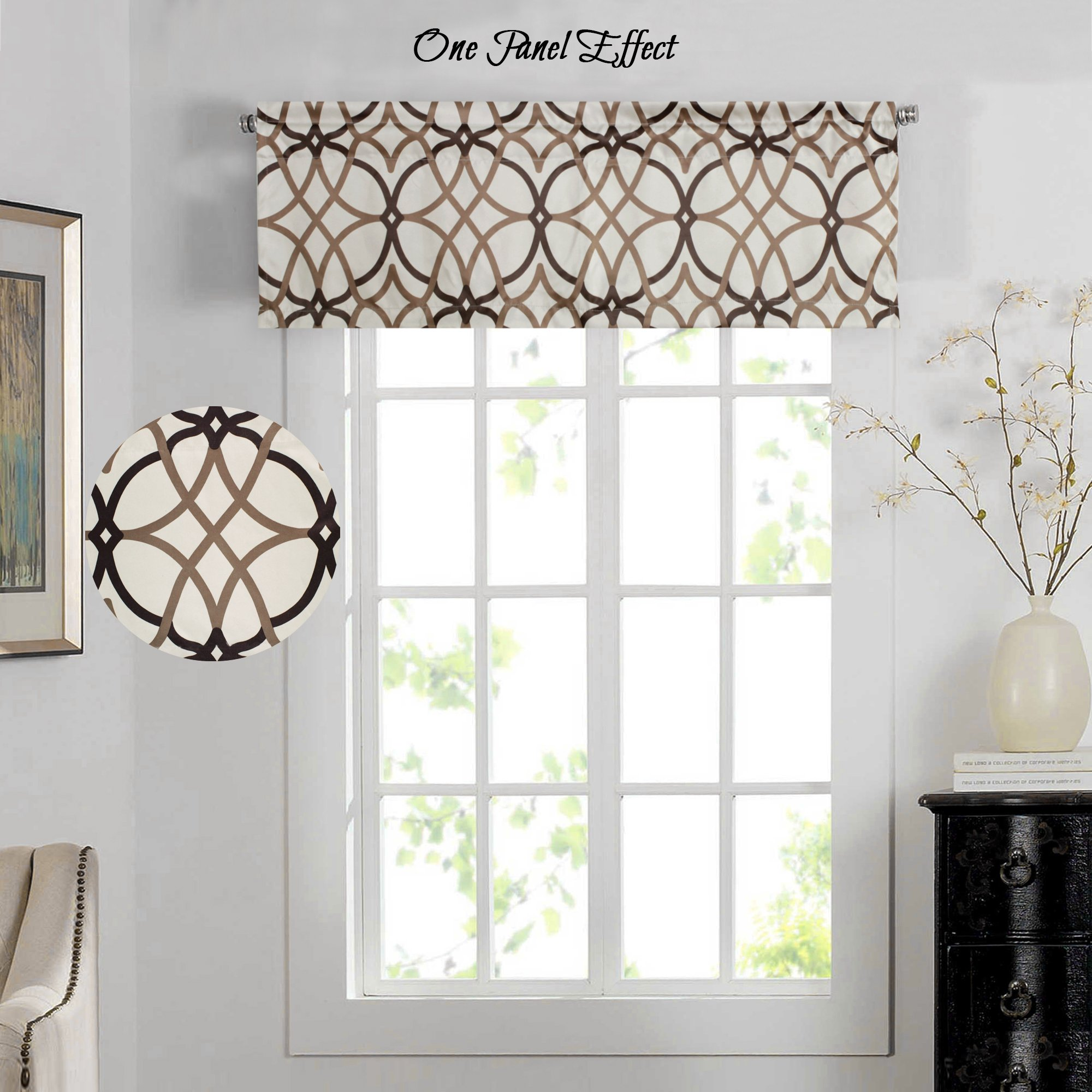 Details about H.Versailtex Energy Saving Curtain Valances for Living  Room,Matching with
