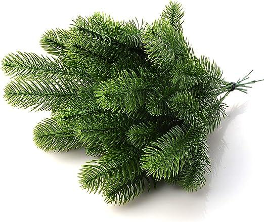30 piezas de ramas de pino artificiales falsas púas de pino ...
