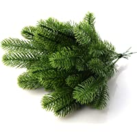 Nuxn 30pcs Artificial Pine Branches Fake Greenery Pine Needle Garland Pine Picks for Christmas Holiday Home Decor